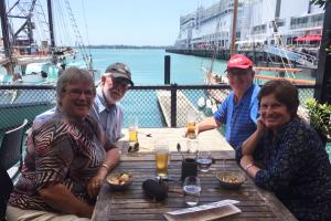 Lunch with Arthur and Alison in Auckland